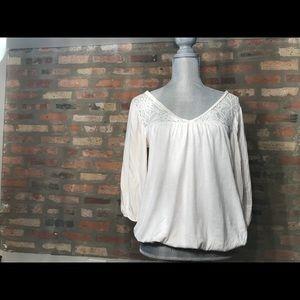 Gap off-white lace blouse